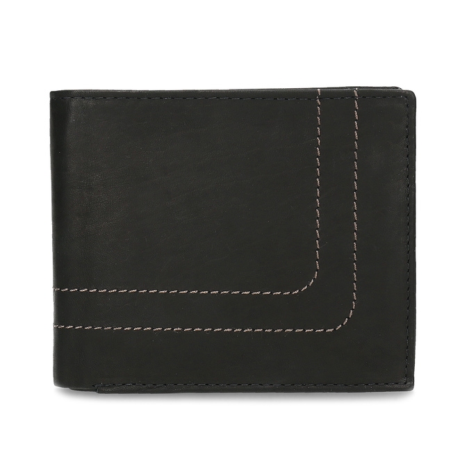 Men's leather wallet bata, brown , 944-6147 - 26
