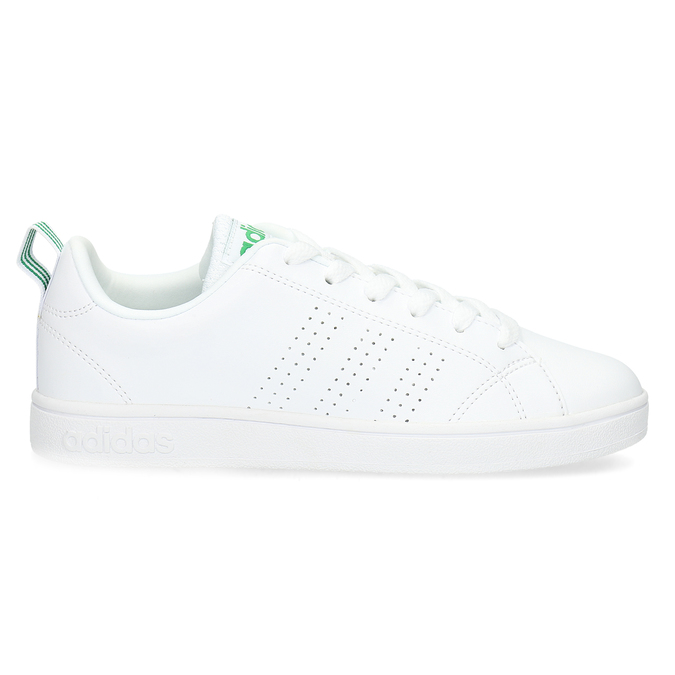 White sneakers with green details adidas, white , 501-1300 - 19