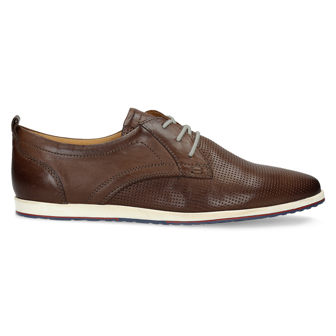Casual leather sneakers bata, brown , 824-4124 - 19