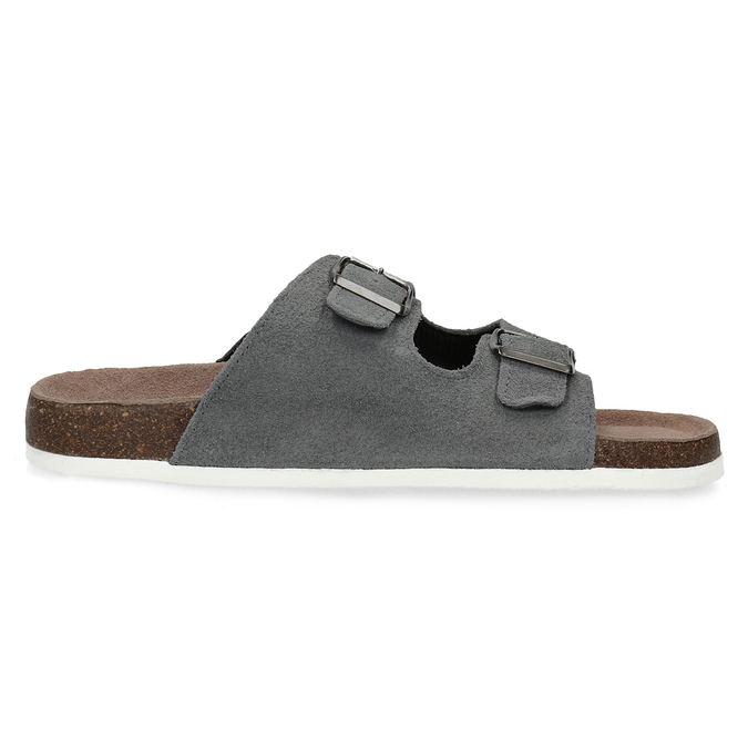 Men's slippers de-fonseca, gray , 873-2610 - 19