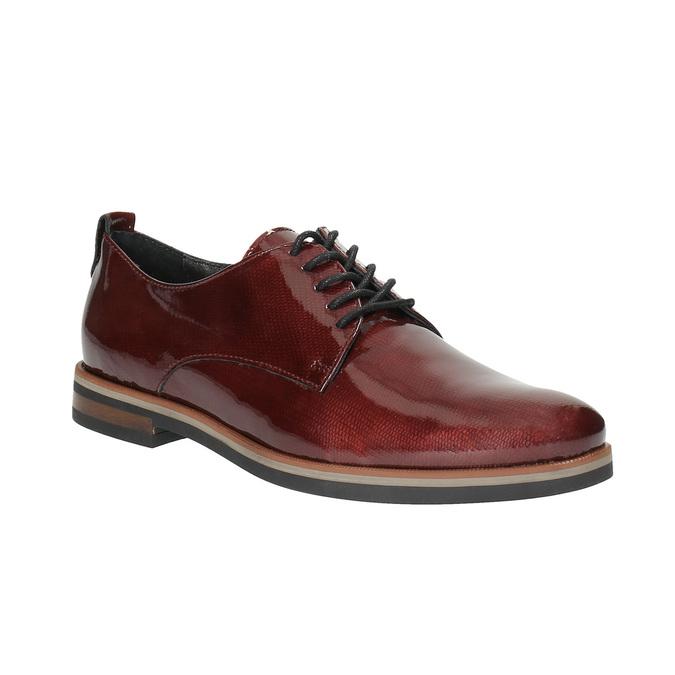 Ladies' Derby shoes bata, red , 528-5600 - 13