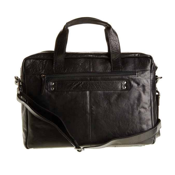 Leather bag bata, black , 964-6153 - 26