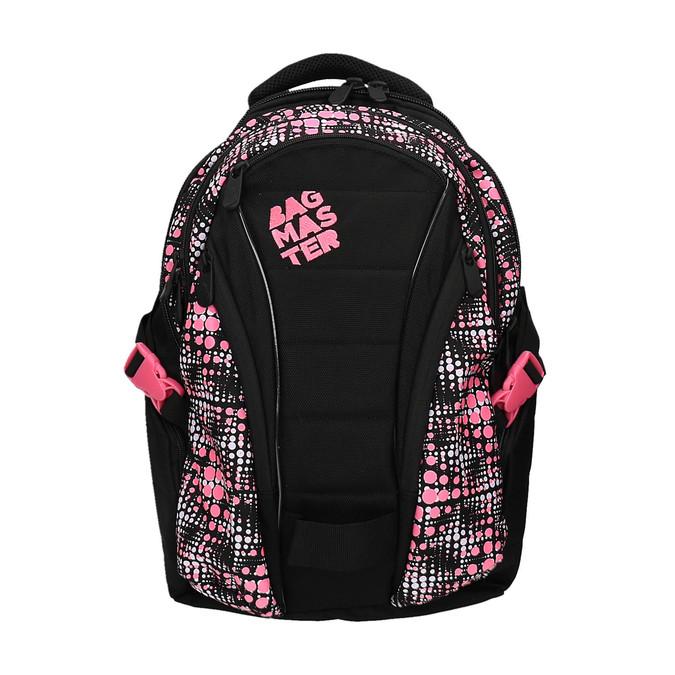 Girls´ school backpack with printed pattern bagmaster, black , 969-5615 - 19