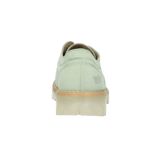 Leather shoes with a transparent sole weinbrenner, green, 526-7608 - 17