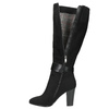 Ladies' heeled high boots bata, black , 699-6631 - 26