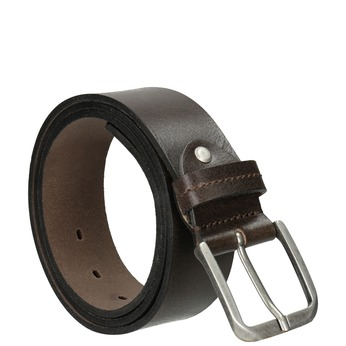Men's leather belt, brown , 954-4106 - 13