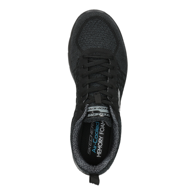 Men's sporty sneakers skechers, black , 809-6350 - 19