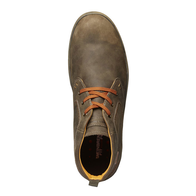 Leather sneakers weinbrenner, brown , 894-2209 - 19