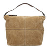 Leather handbag with quilting bata, brown , 963-3130 - 26