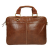 Men's brown leather satchel bata, brown , 964-3204 - 19