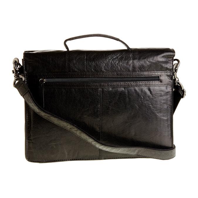 Leather briefcase bata, black , 964-6138 - 26
