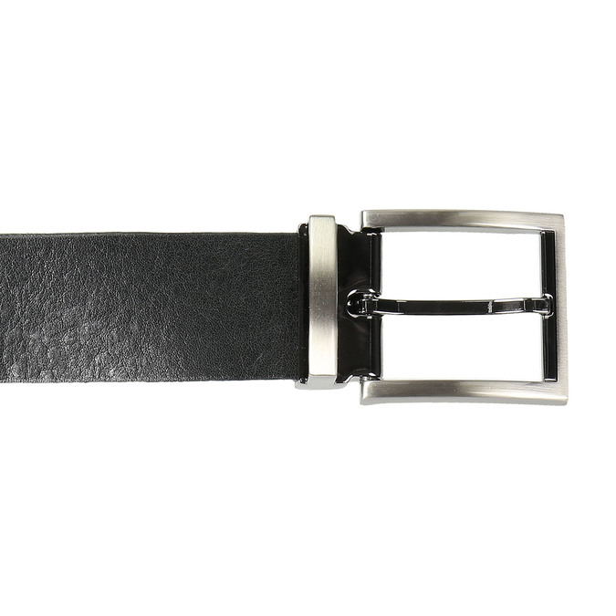 Gentlemen´s leather belt, black , 954-6129 - 26