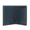 Leather wallet with perforations bata, blue , 944-9175 - 15