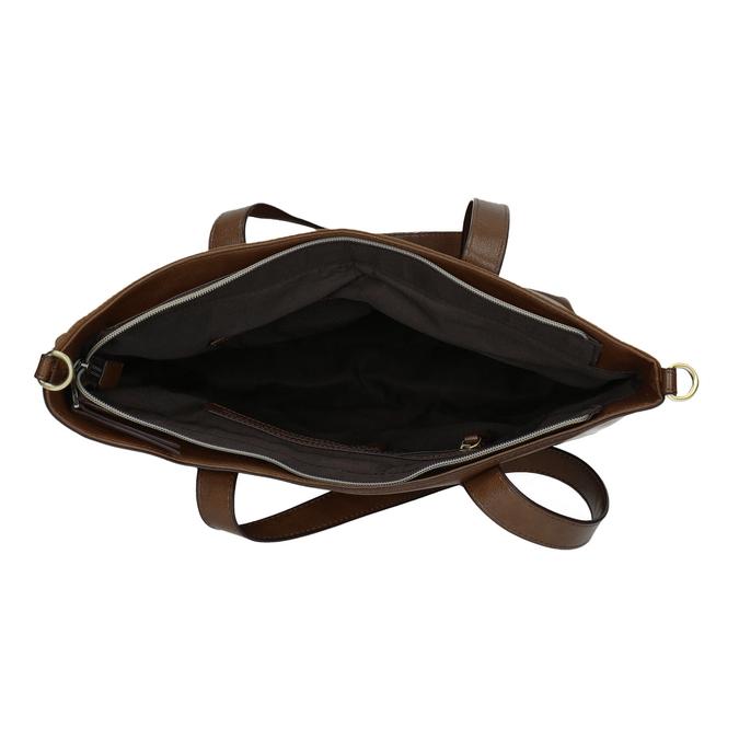 Ladies' handbag with asymmetric zip, brown , 961-3847 - 15
