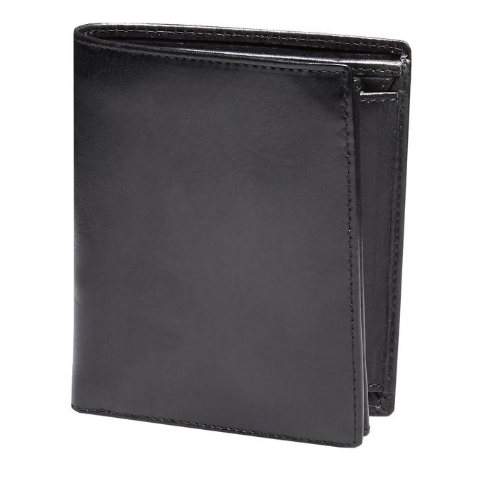 Men's leather wallet bata, black , 944-6121 - 13