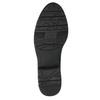 H-width black leather Cossacks bata, black , 596-6611 - 26