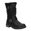 Girls' insulated high boots mini-b, black , 391-6653 - 13