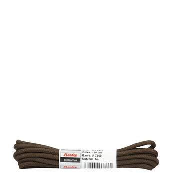 Brown round laces bata, brown , 901-4124 - 13