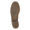 Brown leather high boots bata, brown , 594-4613 - 26