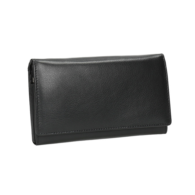 Ladies' leather purse bata, black , 944-6357 - 13