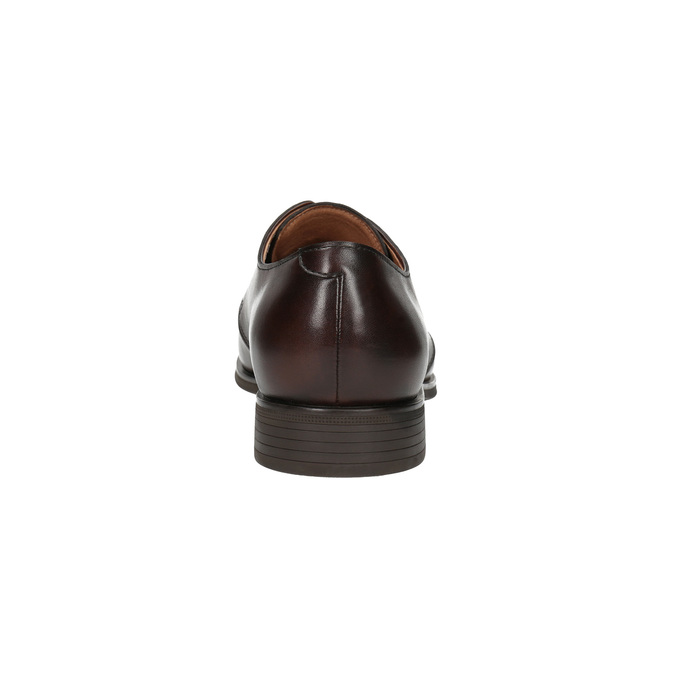 Brown leather shoes bata, brown , 824-4754 - 17