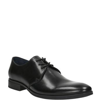 Black leather shoes bata, black , 824-6754 - 13