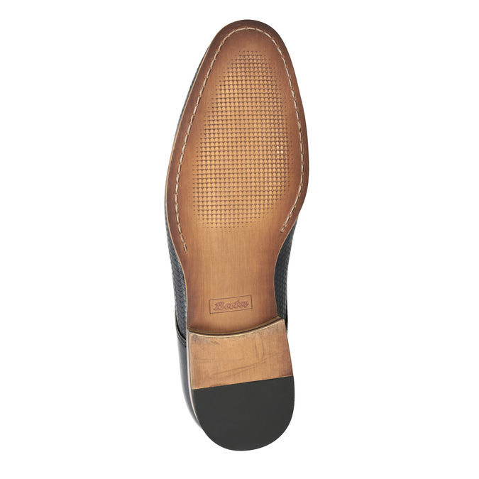 Patterned leather shoes bata, brown , 826-3813 - 26