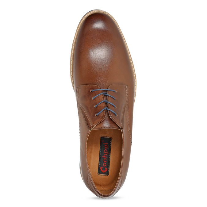 Leather shoes with a distinctive sole, brown , 824-3857 - 17
