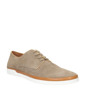 Casual leather shoes bata, beige , 843-8623 - 13