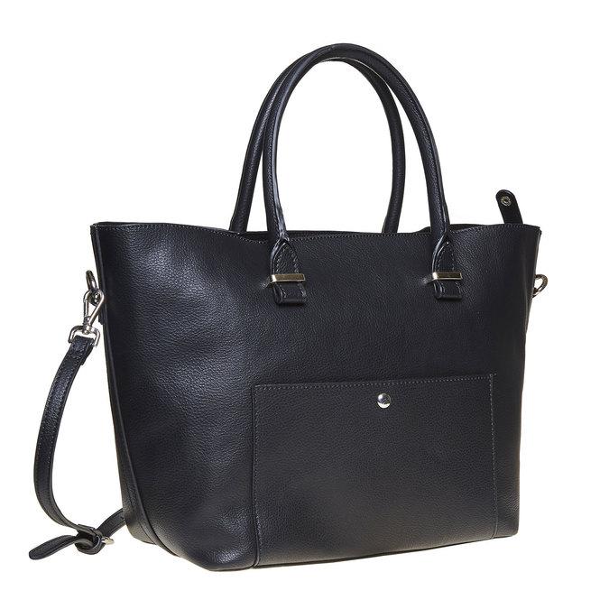 Elegant ladies' handbag bata, black , 961-6278 - 13