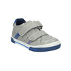 Children's leather sneakers with Velcro fastening mini-b, gray , 214-2600 - 13