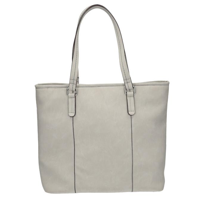 Ladies' handbag with perforated detail bata, gray , 961-2711 - 19