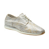 Gold leather sneakers bata, silver , 526-8633 - 13