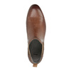 Leather Chelsea ankle boots with perforations bata, brown , 596-4644 - 19