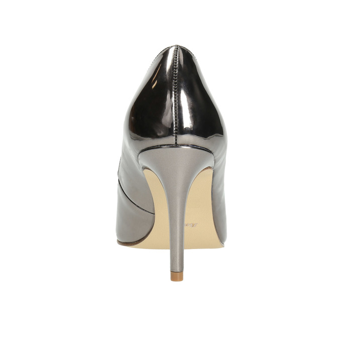 Silver pointed pumps, silver , 721-6607 - 17