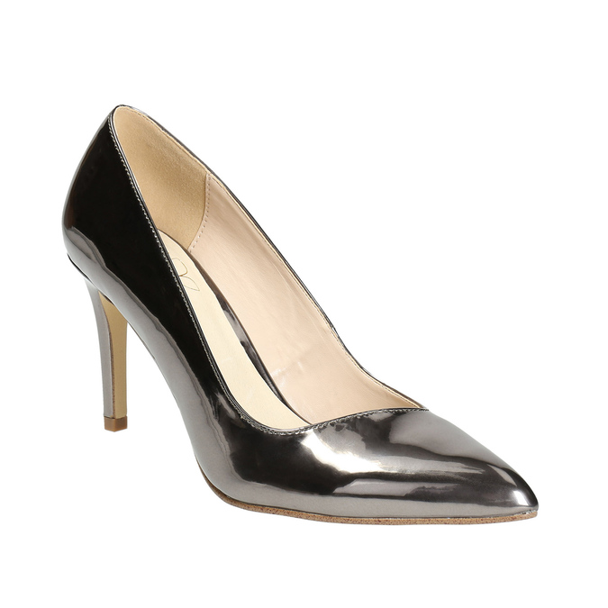 Silver pointed pumps, silver , 721-6607 - 13