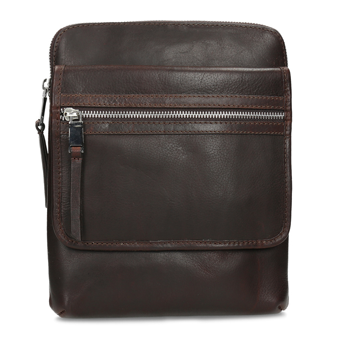 Leather crossbody bag bata, brown , 964-4237 - 26