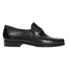Men´s leather Loafers bata, black , 814-6621 - 15