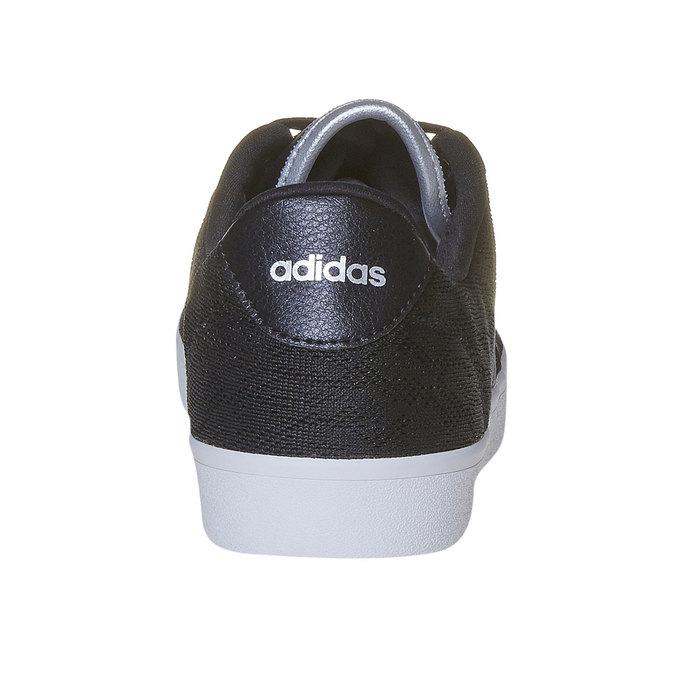 Ladies' black sneakers with lace adidas, black , 509-6195 - 17