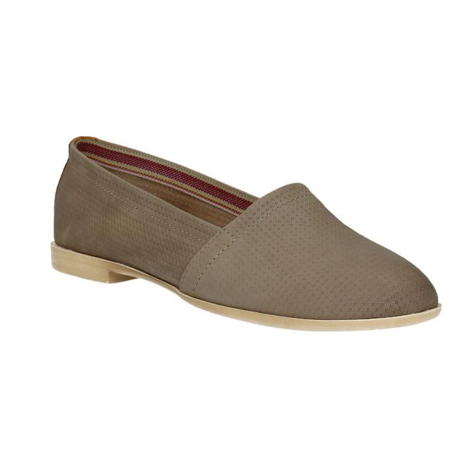 Ladies´ leather Slip-ons bata, brown , 516-2602 - 13