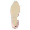 Pink leather pumps with cut-outs insolia, pink , 728-5637 - 26