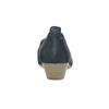 Ladies' leather H-width moccasins bata, blue , 523-9603 - 17