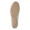 Ladies' leather H-width moccasins bata, gray , 523-2603 - 26