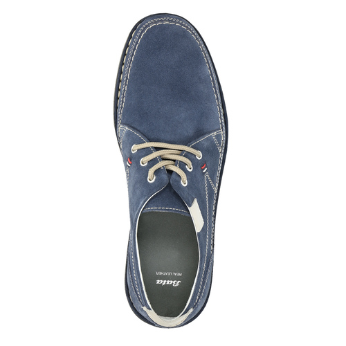 Casual leather shoes bata, blue , 853-9612 - 19