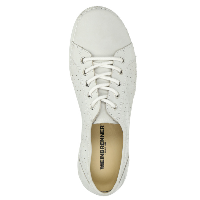 Ladies' casual leather shoes weinbrenner, white , 546-1602 - 19