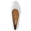 Leather ballet pumps width G gabor, white , 526-1200 - 19