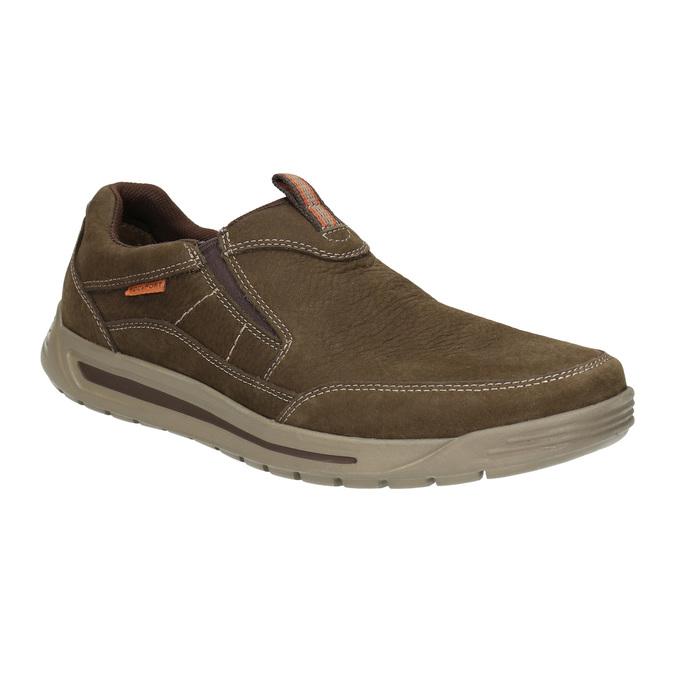 Men's slip-ons rockport, brown , 819-4115 - 13