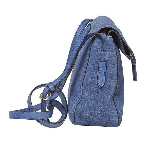 Blue leather crossbody handbag bata, blue , 963-9127 - 17