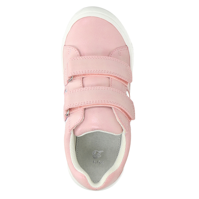 Children's sneakers with floral pattern mini-b, pink , 221-5605 - 19