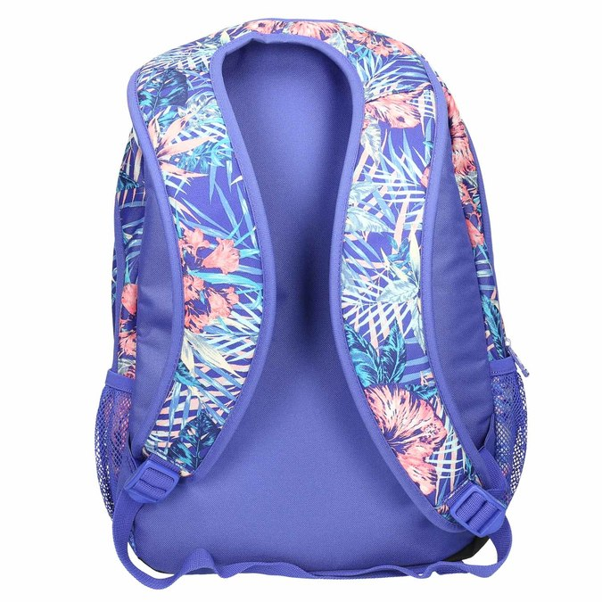 Backpack with coloured pattern roxy, violet , 969-9071 - 26